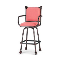 Swivel Barstool Back and Arms GR 2139-30F