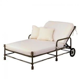 Double Chaise Lounge with Wheels GR 2890-46LW