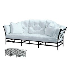 Sofa with Reversible Tailored Back Cushions TR 2130L
