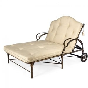 Double Chaise Lounge with Wheels TR 2890-46LW