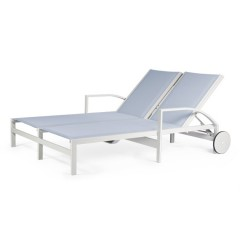 Double Chaise Lounge with Wheels<br>AV 8090-46W