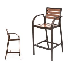 Mondello Counter Stool / Bar Chair With Arms<br>EWM 9045-24 / 30