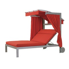 Double Chaise Lounge with Adjustable Canopy<br>LC 2895-46LWC
