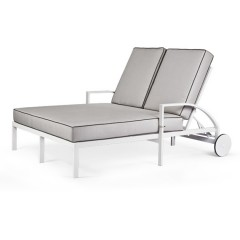 Double Chaise Lounge with Wheels<br>AV 2890-46LW