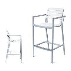 Lugano Counter Stool / Bar Chair  with Arms<br>EWL  9045-24 / 30