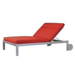 Double Chaise Lounge with Wheels LC 2890-46LW