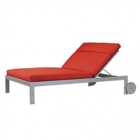 EASTSIDE Double Chaise Lounge with Wheels LC 2890-46LW
