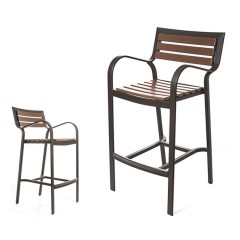 Ibiza Counter Stool / Bar Chair  with Arms<br>EWI  9045-24 / 30