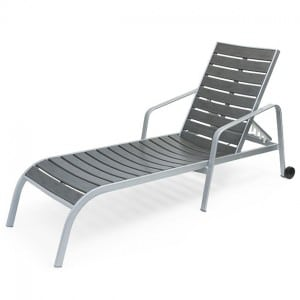 Capri  Chaise Lounge With Arms And Wheels EWC 9190W