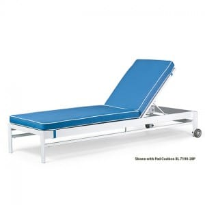Stacking Chaise Lounge  BL 7190W