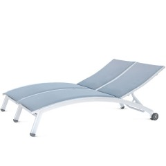 Double  Chaise Lounge with Wheels (arched seat)<br>NV 8190-46WA