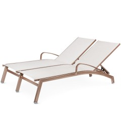 Double Chaise Lounge with Arms (straight seat)<br>NV 7191-46S