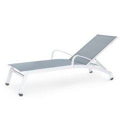 Stacking Chaise Lounge with Arms (straight seat)<br>NV 7191S