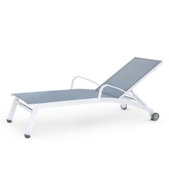 Stacking Chaise Lounge with Wheels and Arms (straight seat)<br>NV 7191WS