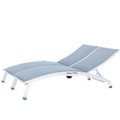 PINECREST Double Chaise Lounge with Side Tray NV-8190-46A-RL