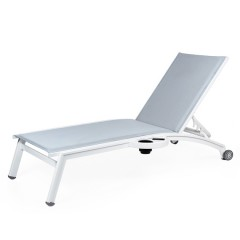 PINECREST Stacking Chaise Lounge with Wheels And Side Tray NV 8190WSL