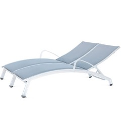 Double  Chaise Lounge with Arms (arched seat)<br>NV 8191-46A