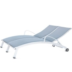 Double Chaise Lounge with Arms and Wheels  (arched seat)<br>NV 8191-46WA