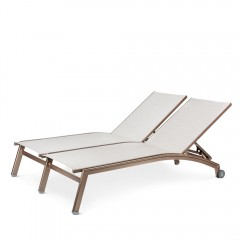 Double Chaise Lounge with Wheels  (straight seat)<br>NV 7190-46WS