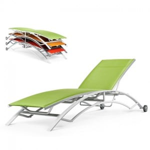 Stacking Chaise Lounge with Wheels<br>AQ 8190W
