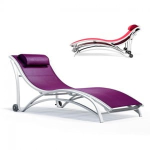 Stacking Chaise Lounge With Wheels MU 7290W