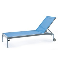 Bleau G2 Stacking Chaise Lounge With Wheels  BL2 7165W