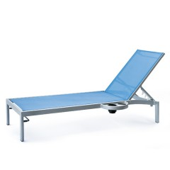 Bleau G2 Stacking Chaise Lounge with Left Or Right Side Tray BL2 7165L/ BL2 7165R