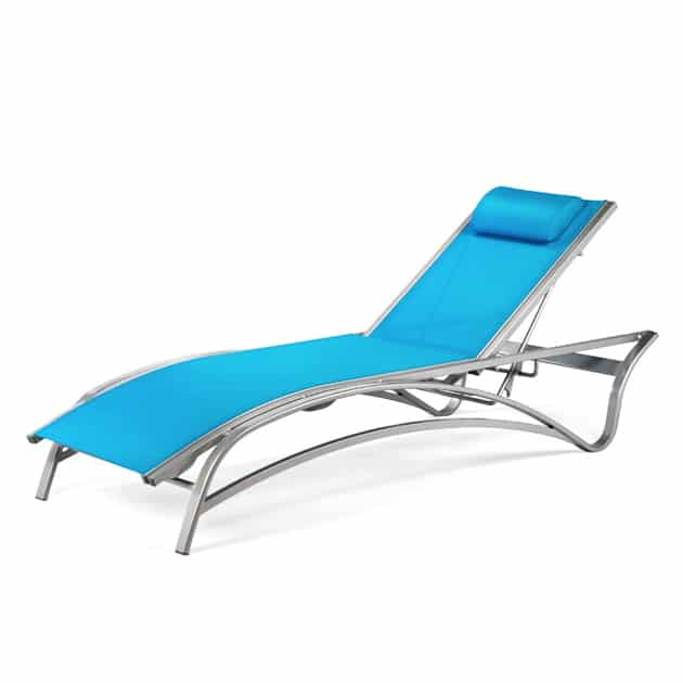 Stacking chaise lounge with adjustable back mu 7190 for Aluminum commercial stack chaise lounge