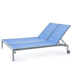 Bleau G2 Double Chaise Lounge with Wheels BL2 7165-46W