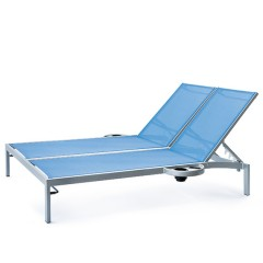 Bleau G2 Double Chaise Lounge with Left And right side trays BL2 7165-46R/L