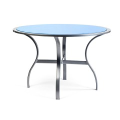 Dining Table With Inlaid Glass Top MU 2500 SERIES