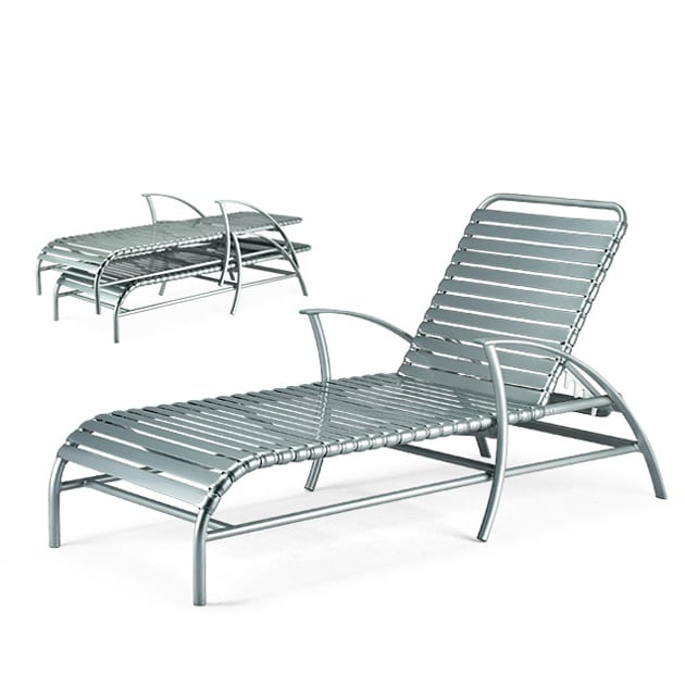 Stacking chaise lounge mt 6390 pavilion for Aluminum commercial stack chaise lounge