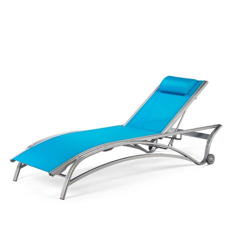 EDGEWATER Stacking Chaise Lounge with Wheels MU 7190W