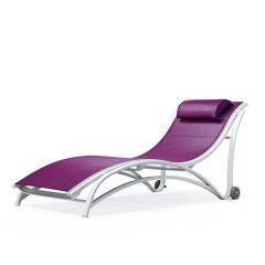 EDGEWATER Stacking Chaise Lounge with Wheels MU 7290W