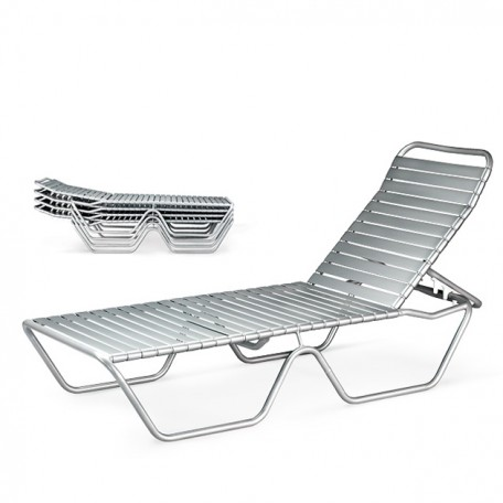 DURA WELD DW 565 Stacking Chaise Lounge