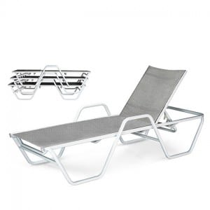 Stacking Chaise Lounge  With Arms SR 7095