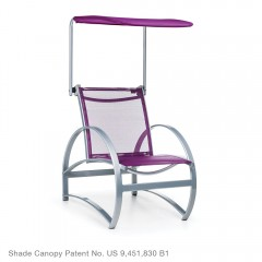 Adjustable Shade Canopy<br>with Lounge Chair