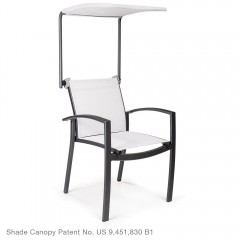 Adjustable Shade Canopy<br>with Dining Arm Chair