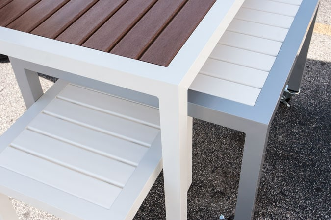Slats Are Made From High Density Polyethylene (HDEP), UV Inhibited,  Impervious To All Types Of Weather Conditions. Easily Maintained With An  Occasional