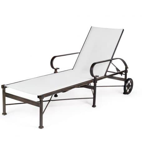 GABLES Chaise Lounge with Wheels EM 8090W